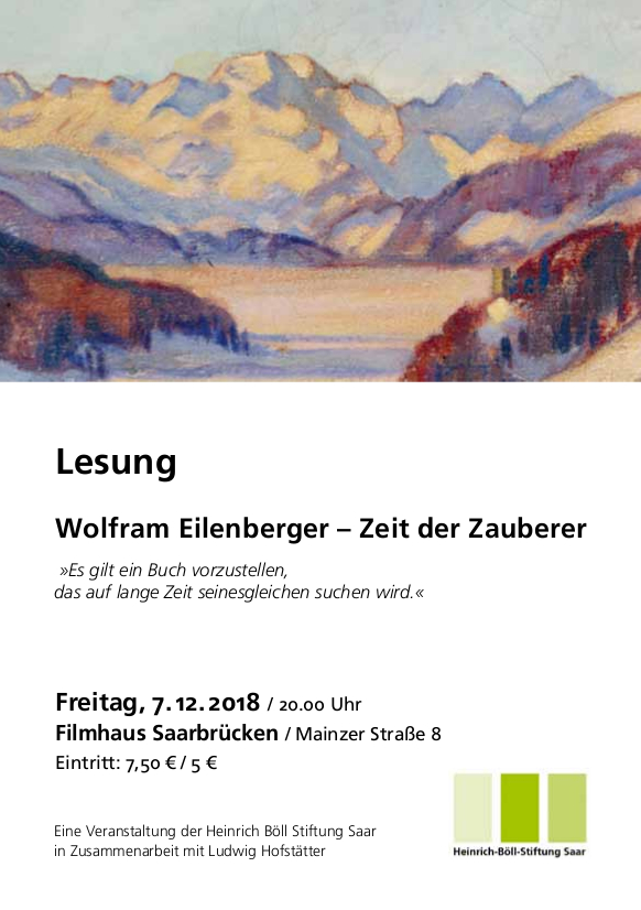 Flyer Lesung Eilenberger